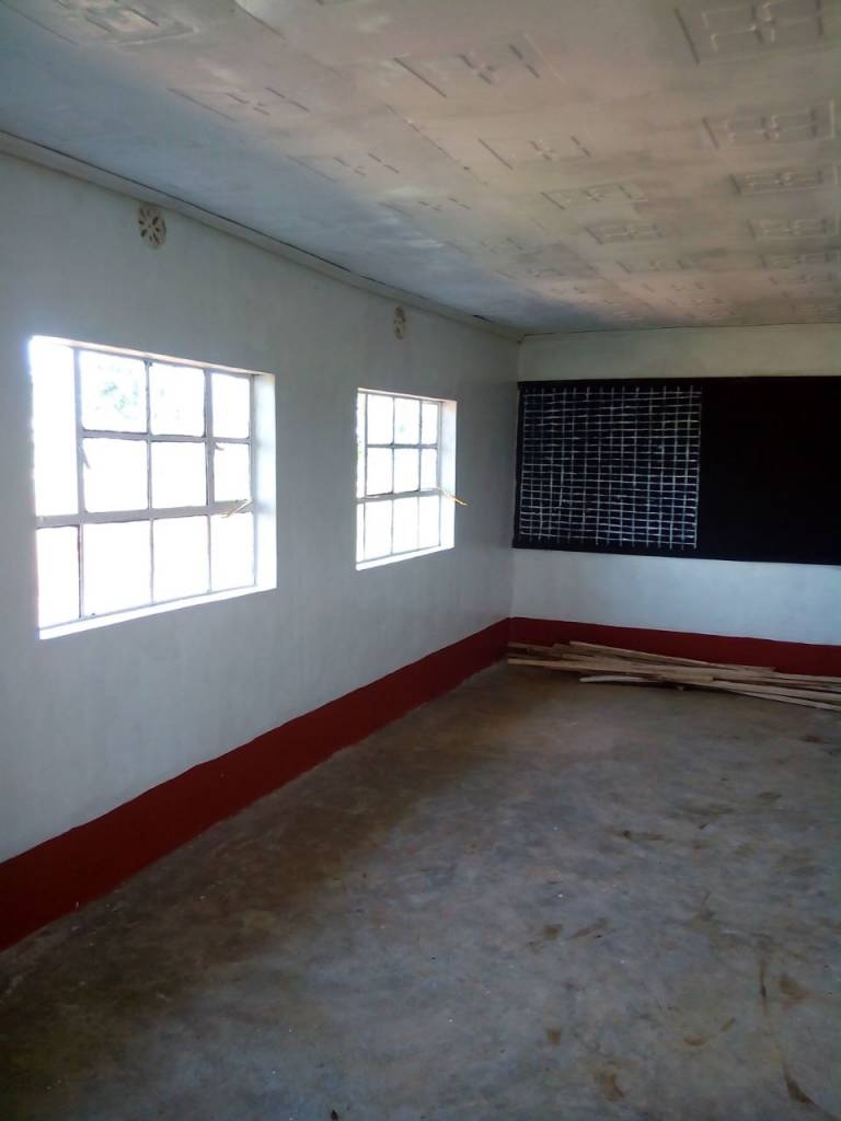 Phase 1: The inside of the finished classroom