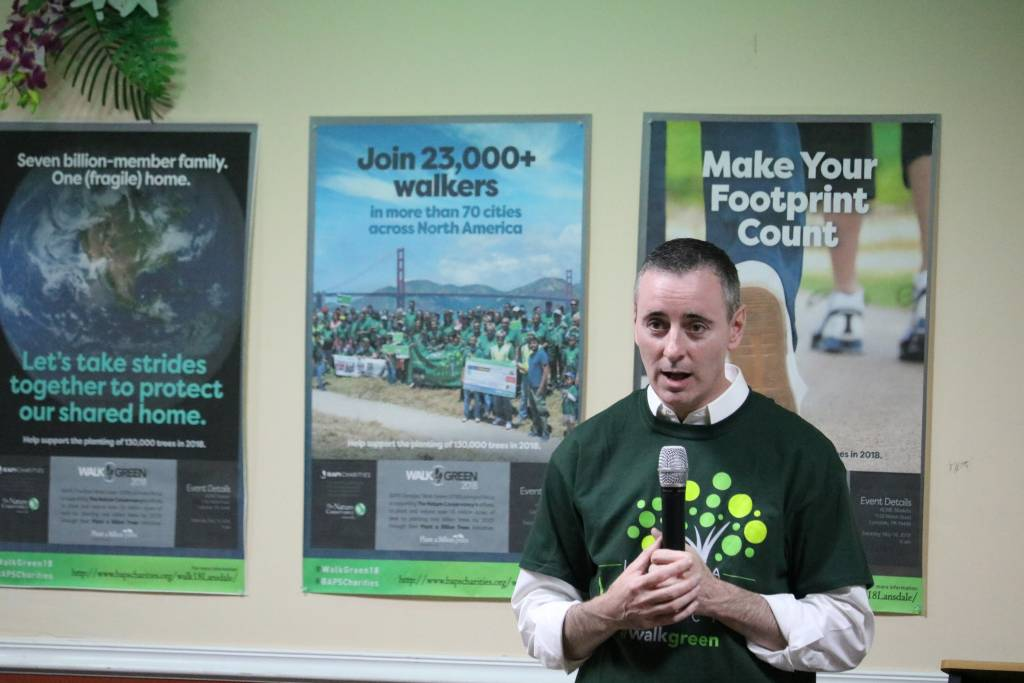 Congressman Brian Fitzpatrick speaking at the Earth Day event.