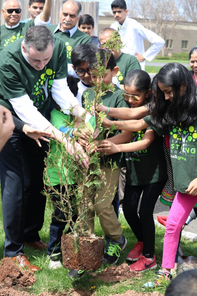 Congressman Brian Fitzpatrick participating in the Earth Day tree planting.