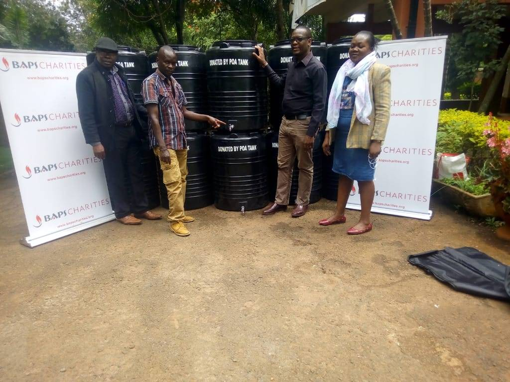 10 tanks of 230 liters donated to County Development fund officials in Westlands, Nairobi