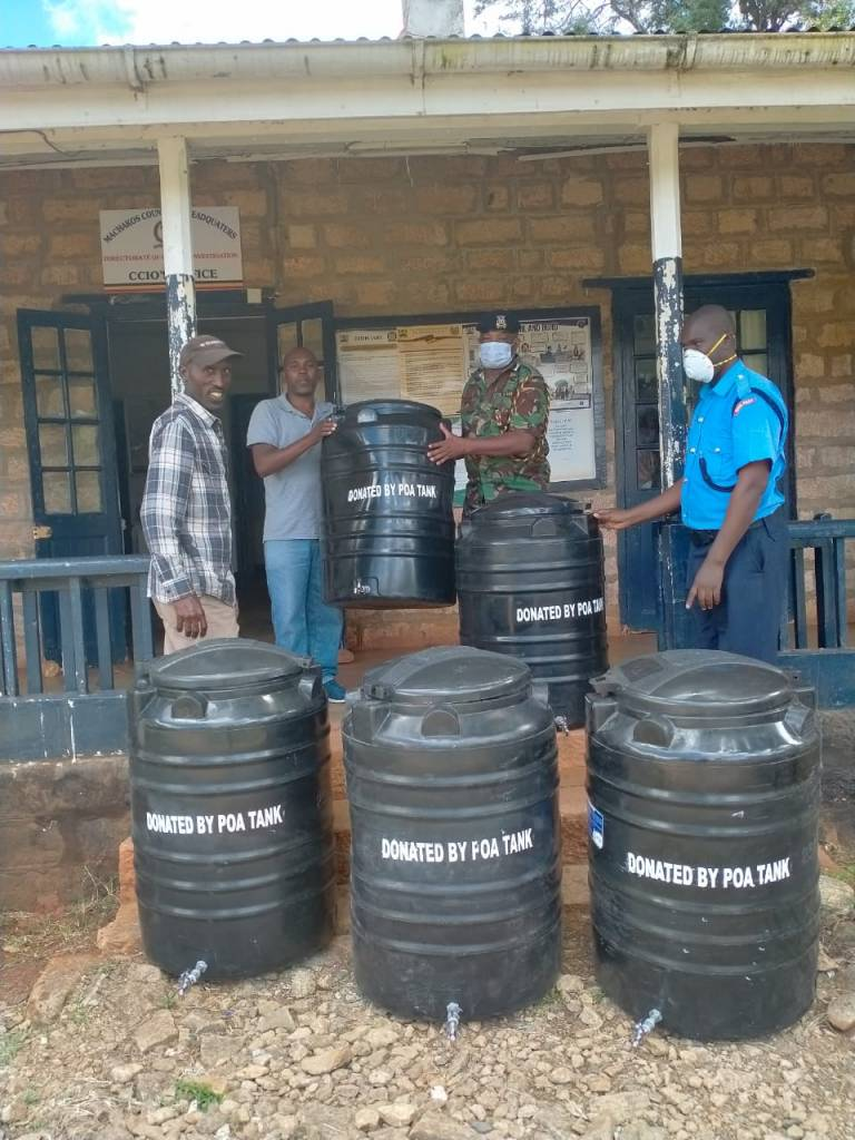 5 tanks of 230 liters to Machakos County Police