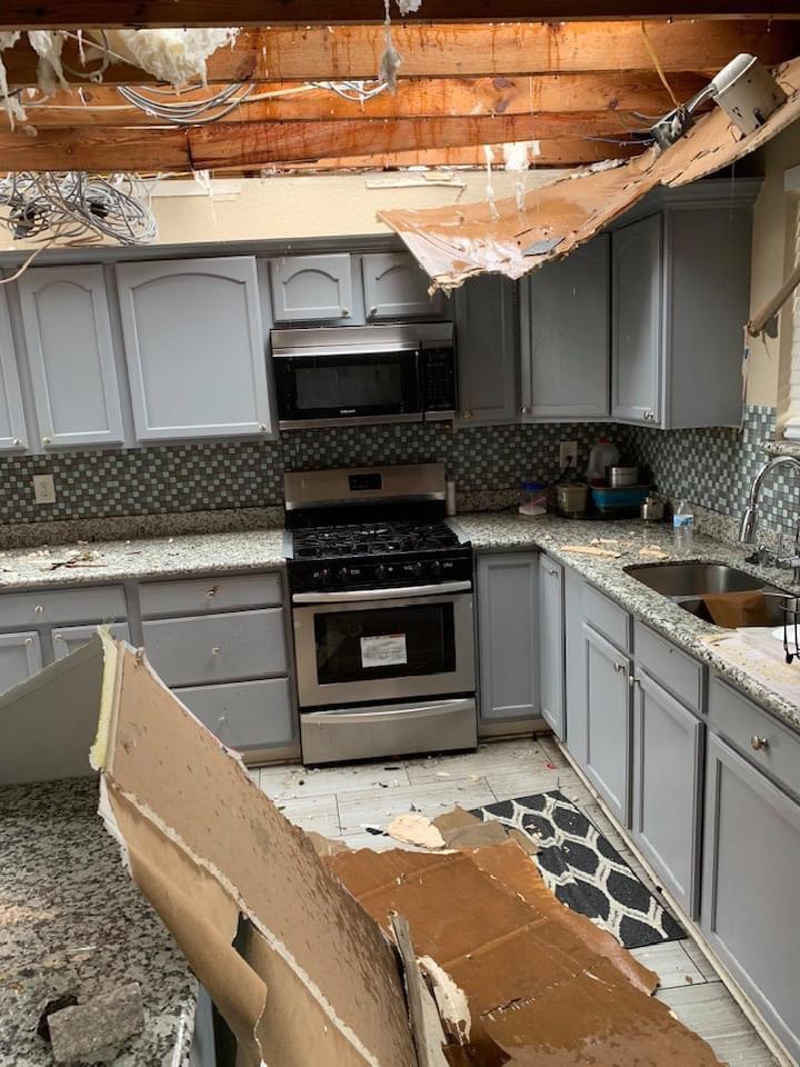 Devastation caused by Hurricane Laura